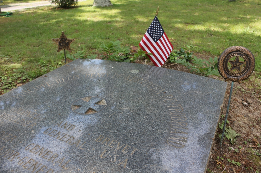Major-General Trobriand is buried in Union Cemetery in Sayville, NY.